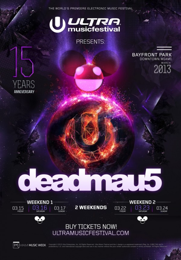 deadmau5 to play both weekends of Ultra 2013 – a brief case study of greed, gluttony, and sloth