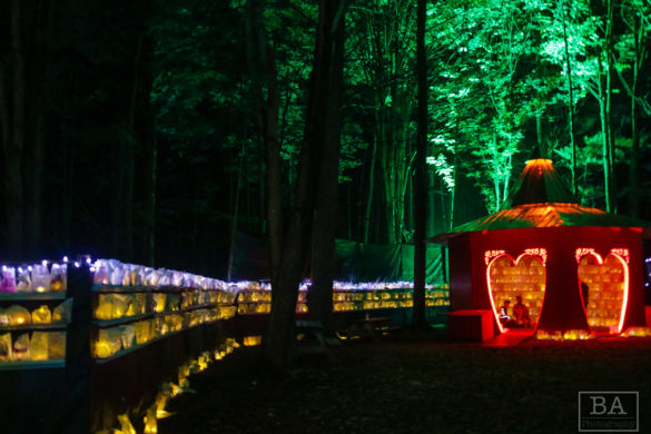 Luminarias at Electric Forest