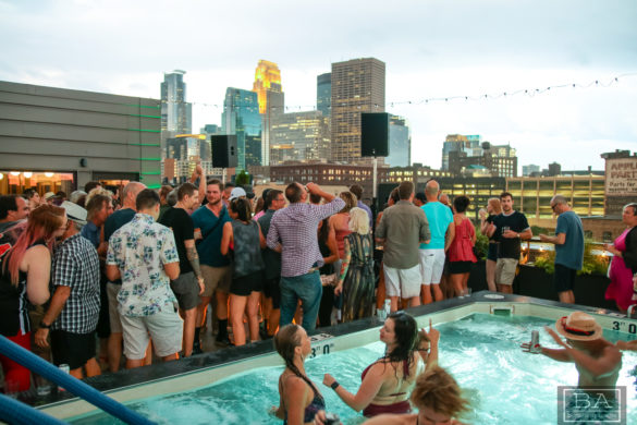 Rooftop party at the Hewing Hotel in Minneapolis feat Mark Farina